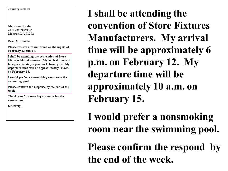 January 2, 2002 Mr.James Leslie 2411 Jefferson Ct.