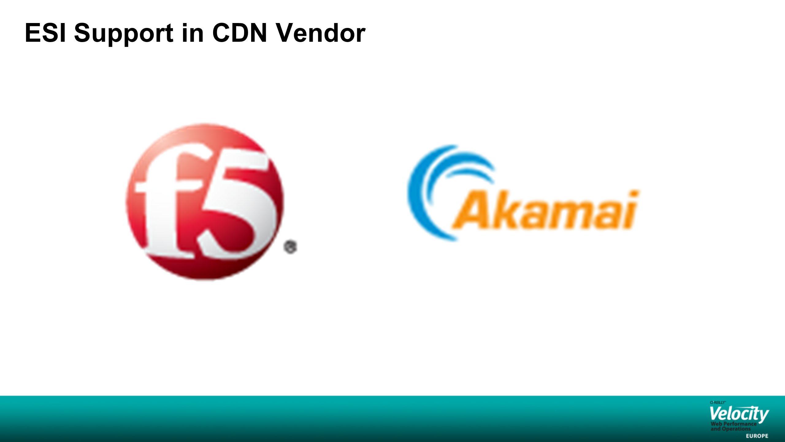 ESI Support in CDN Vendor