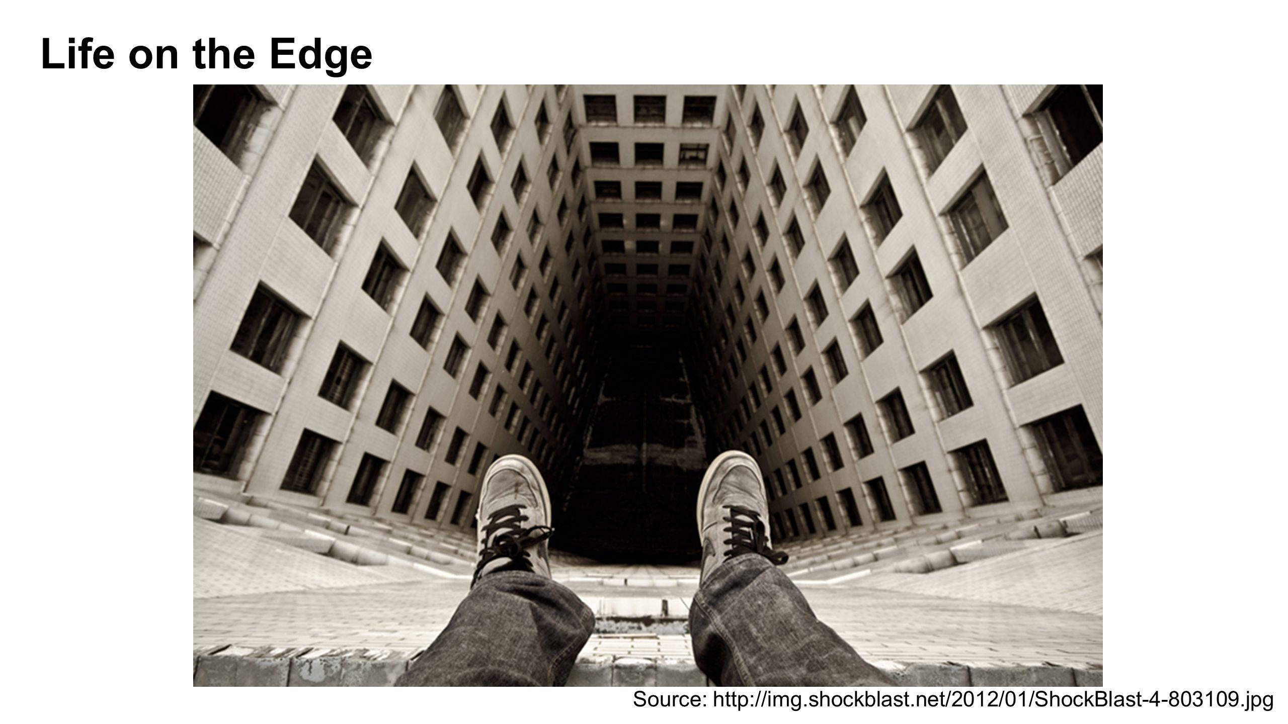 Life on the Edge Source: http://img.shockblast.net/2012/01/ShockBlast-4-803109.jpg