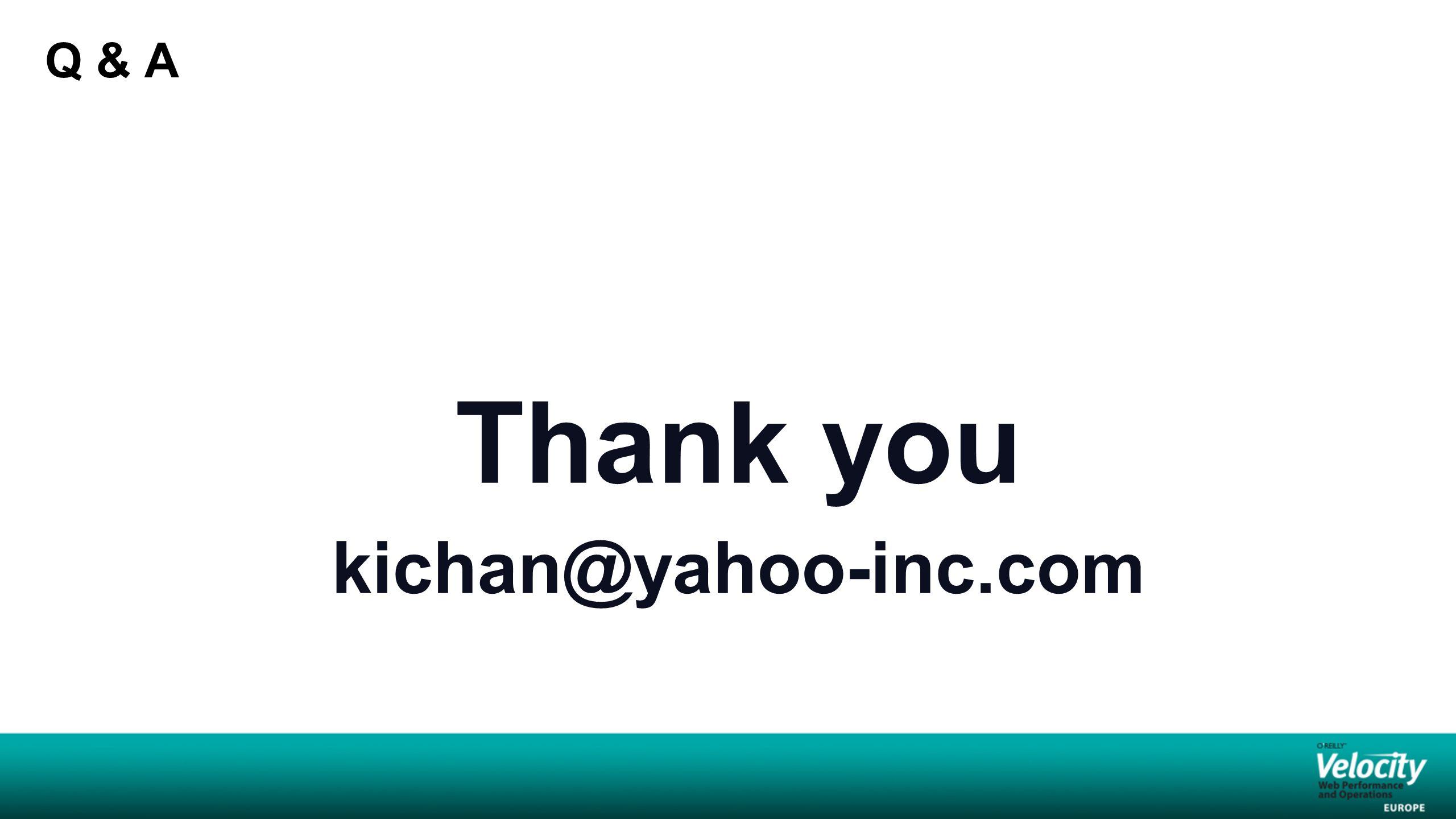 Q & A Thank you kichan@yahoo-inc.com
