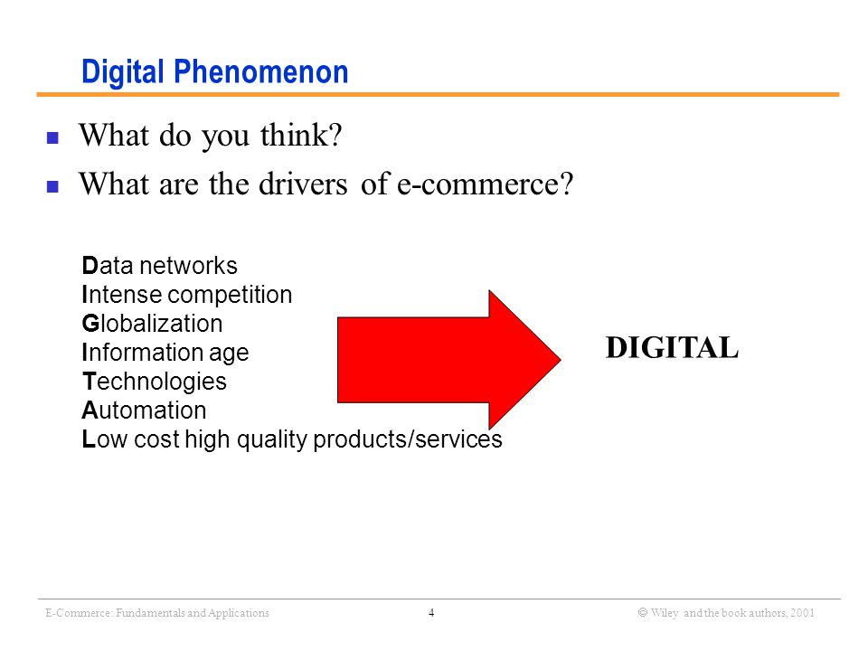 _______________________________________________________________________________________________________________ E-Commerce: Fundamentals and Applications5  Wiley and the book authors, 2001 E-commerce from different perspectives Three layer models for e-commerce (e.g.