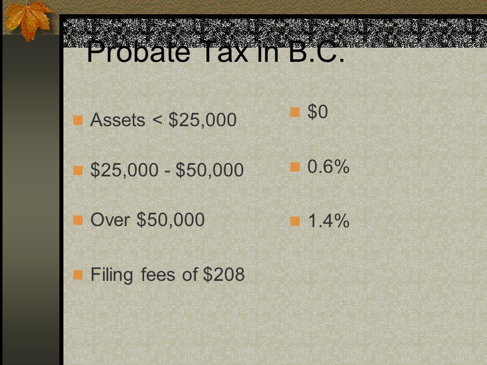 Probate Tax in B.C.