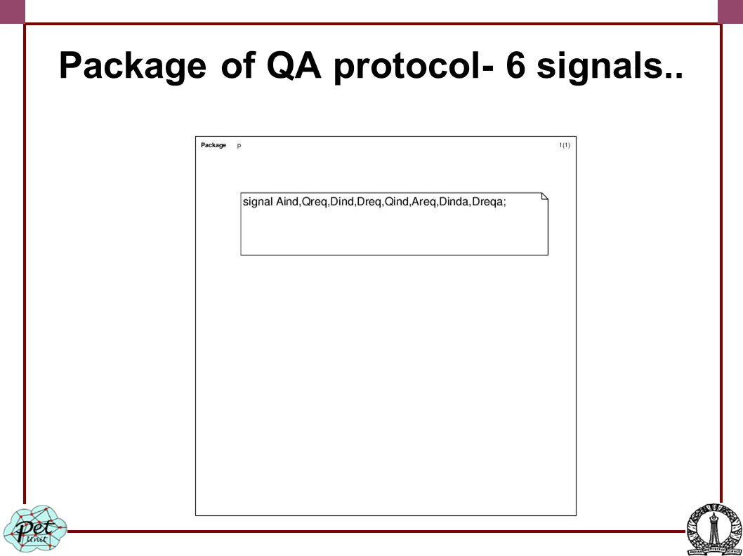 Package of QA protocol- 6 signals..