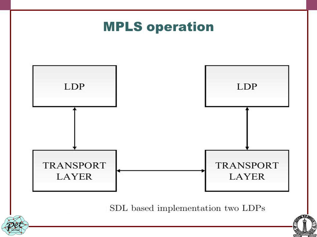 MPLS operation