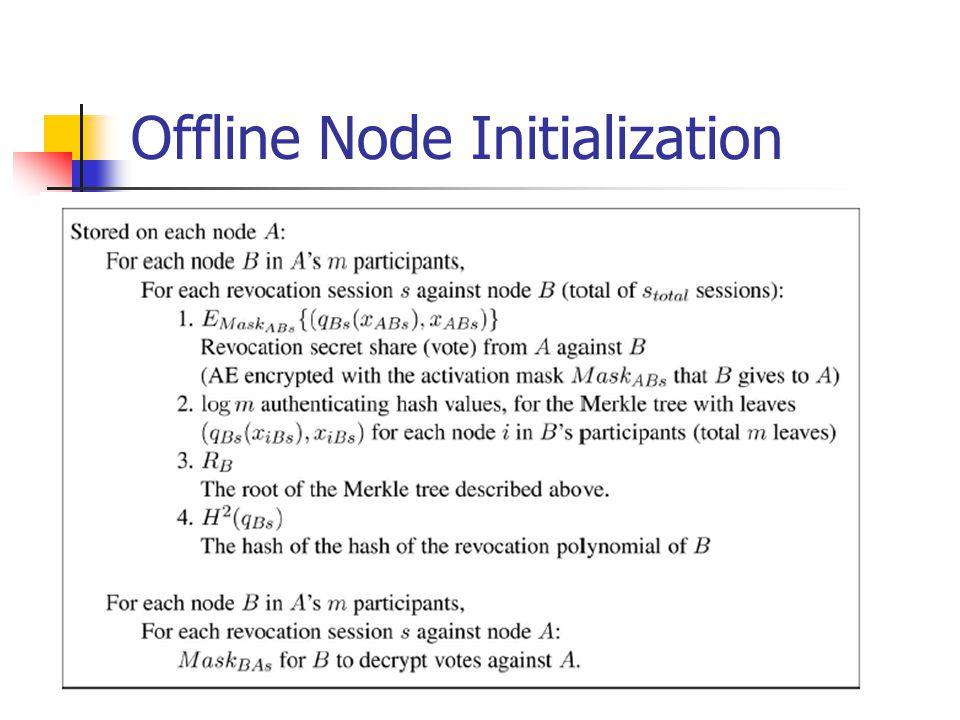 Offline Node Initialization