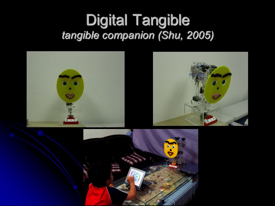 Digital Tangible tangible companion (Shu, 2005)