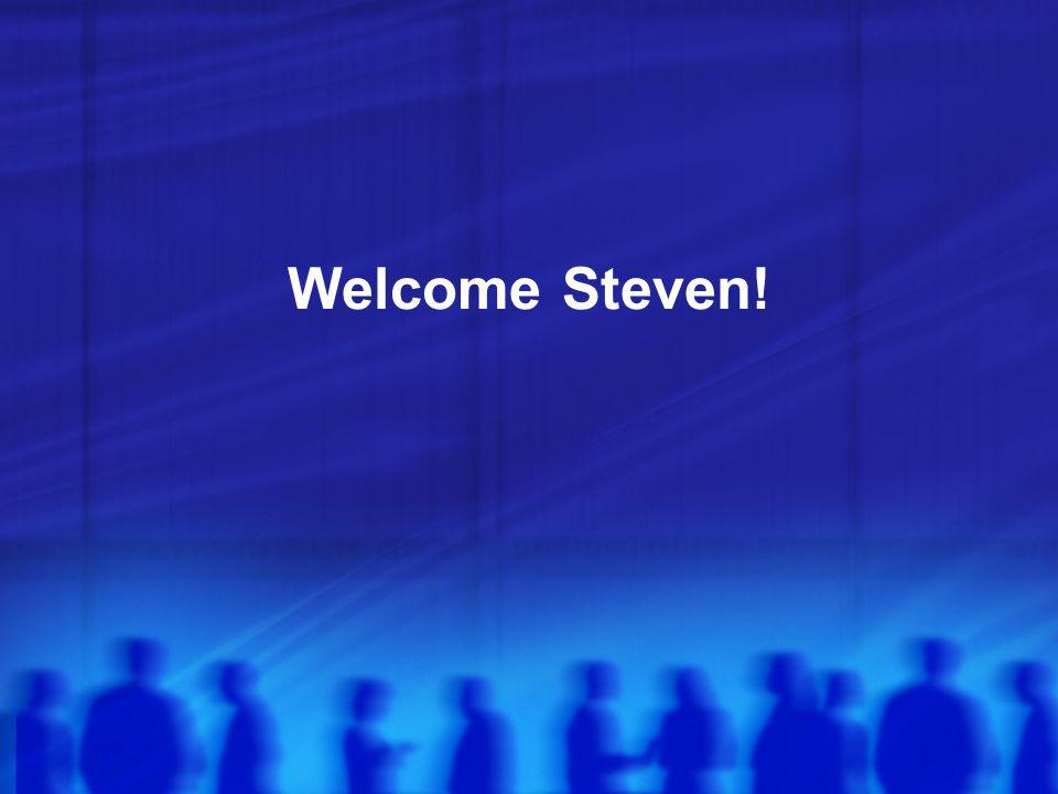 Welcome Steven!