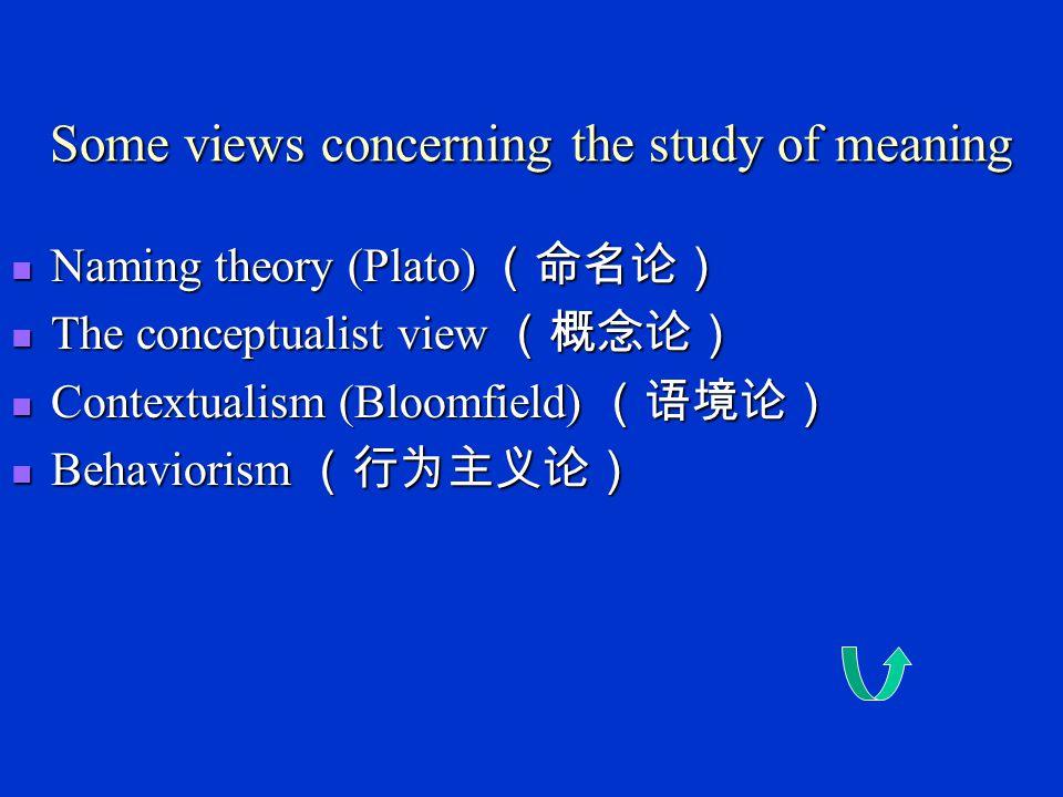 Chapter 5 Semantics Semantics----the study of language meaning.