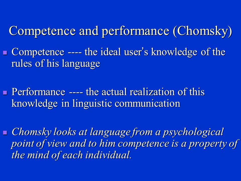 Langue vs parole (F.