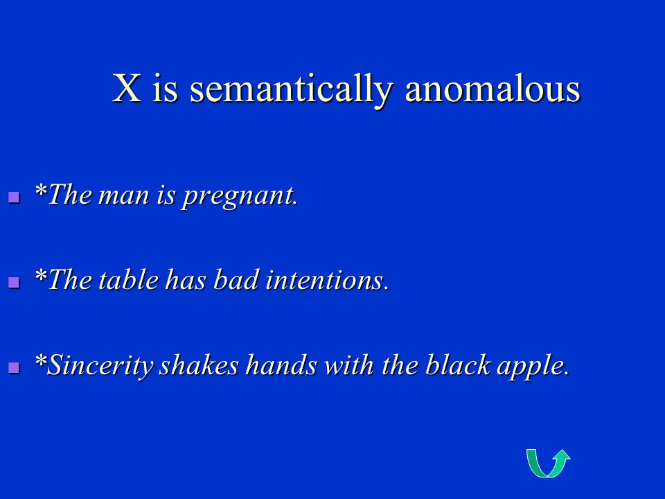 X is a contradiction *My unmarried sister is married to a bachelor.