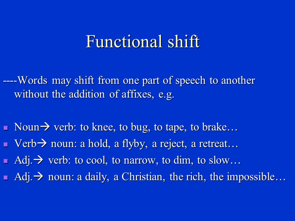 Back-formation ----New words may be coined from already existing words by subtracting an affix thought to be part of the old word.