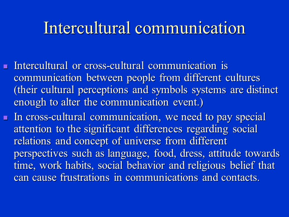 Cultural diffusion Through communication, some elements of culture A enter culture B and become part of culture B, this phenomenon is known as cultural diffusion.