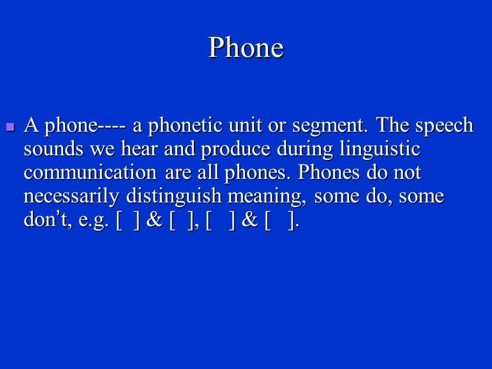 Phone, phoneme, allophone
