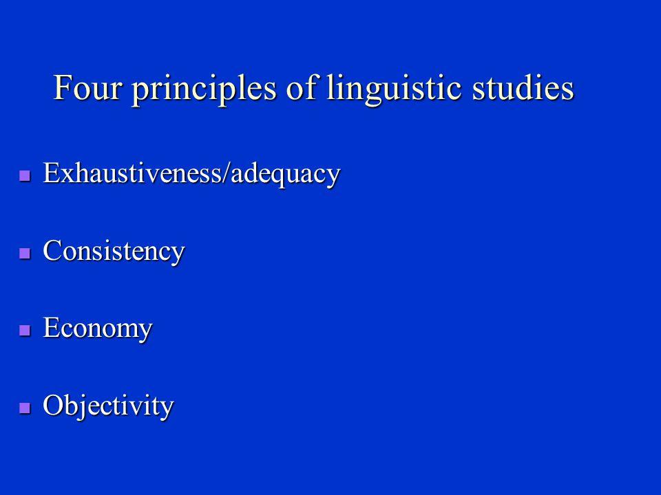 1.What is linguistics. ----Linguistics is the scientific study of language.
