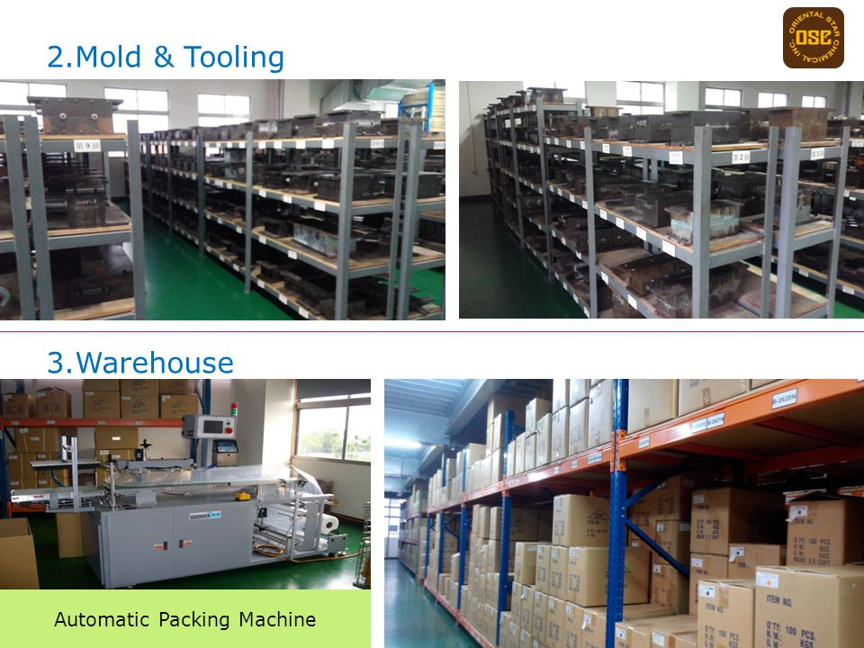2.Mold & Tooling 3.Warehouse Automatic Packing Machine