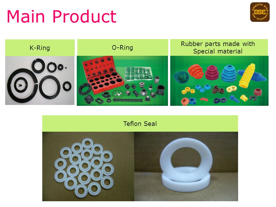 Main Product K-Ring Teflon Seal O-Ring Rubber parts made with Special material