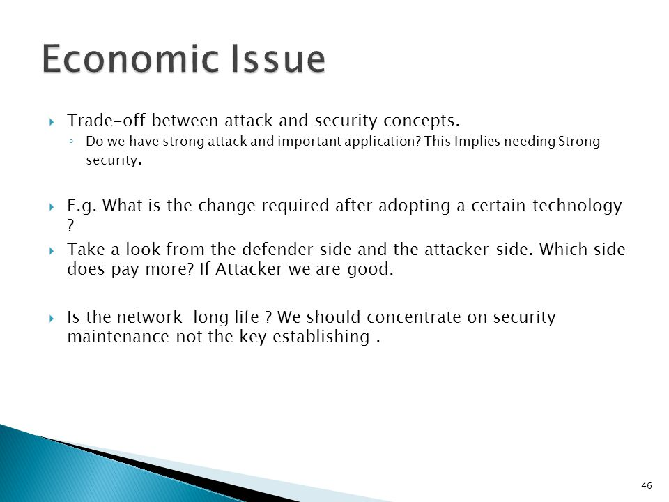  Trade-off between attack and security concepts.