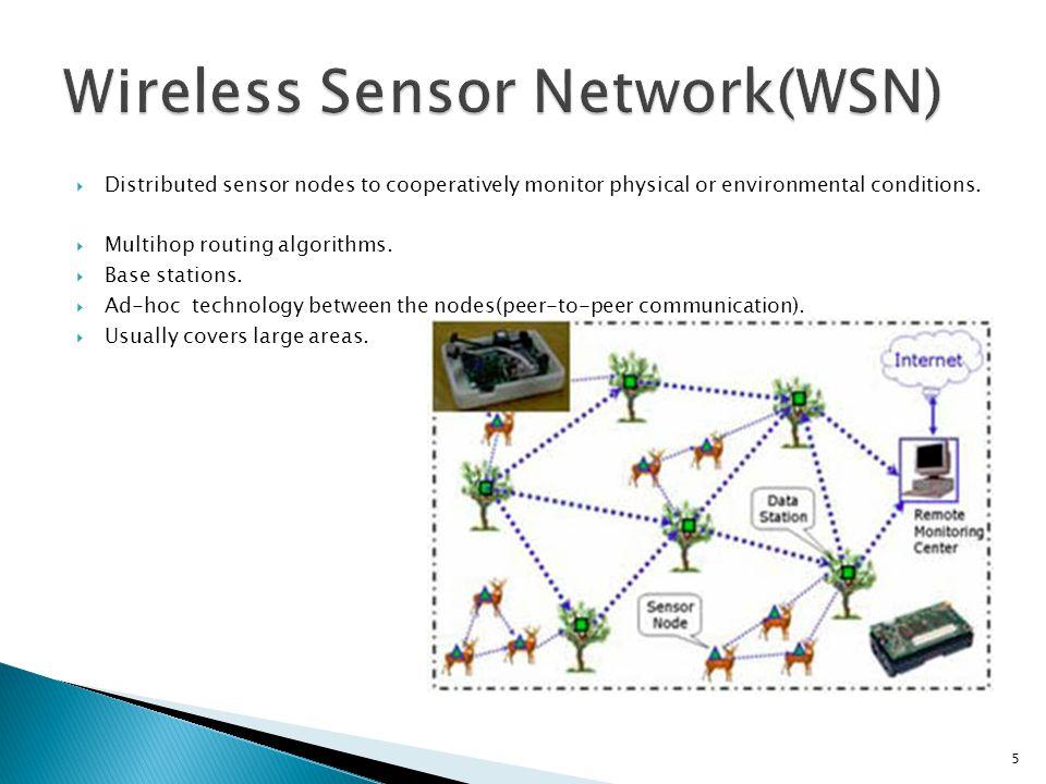  Sensor nodes Constraints: ◦ Battery powered.