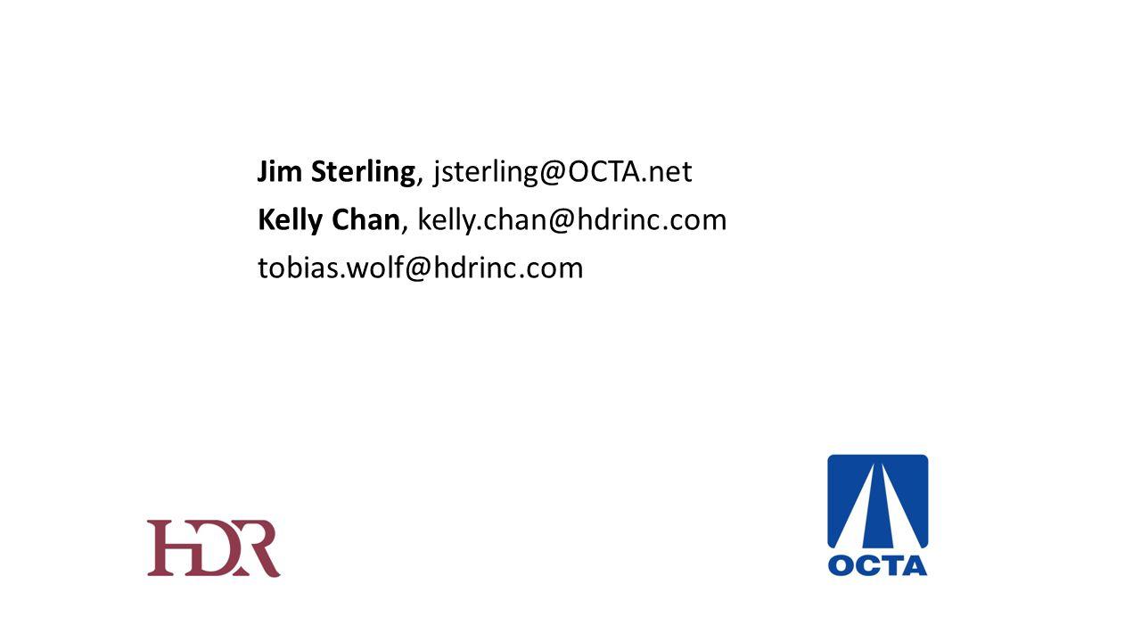 Jim Sterling, jsterling@OCTA.net Kelly Chan, kelly.chan@hdrinc.com tobias.wolf@hdrinc.com