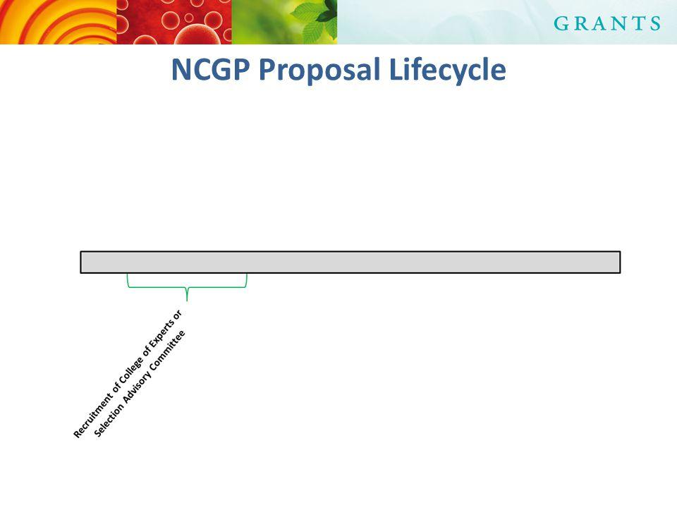 NCGP Proposal Lifecycle