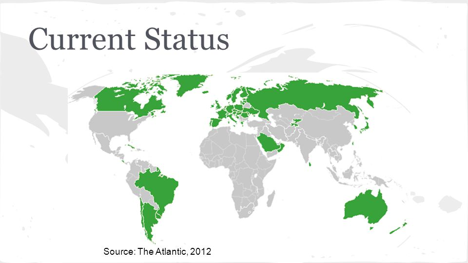 Current Status Source: The Atlantic, 2012