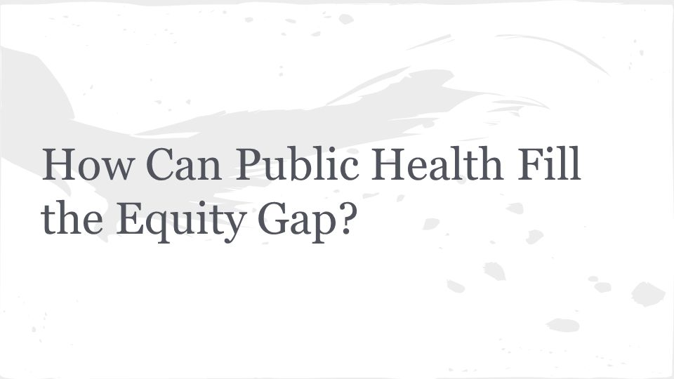 How Can Public Health Fill the Equity Gap?