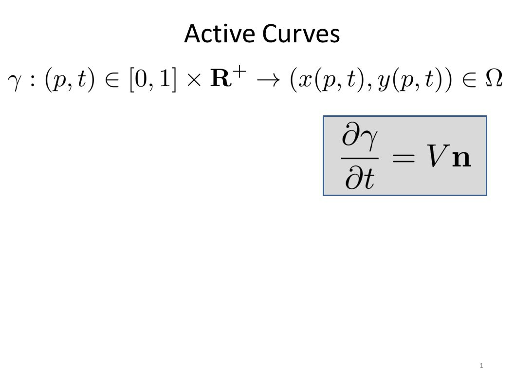 6 Standard region terms: Piecewise constant case e.g., Chan and et Vese, 01