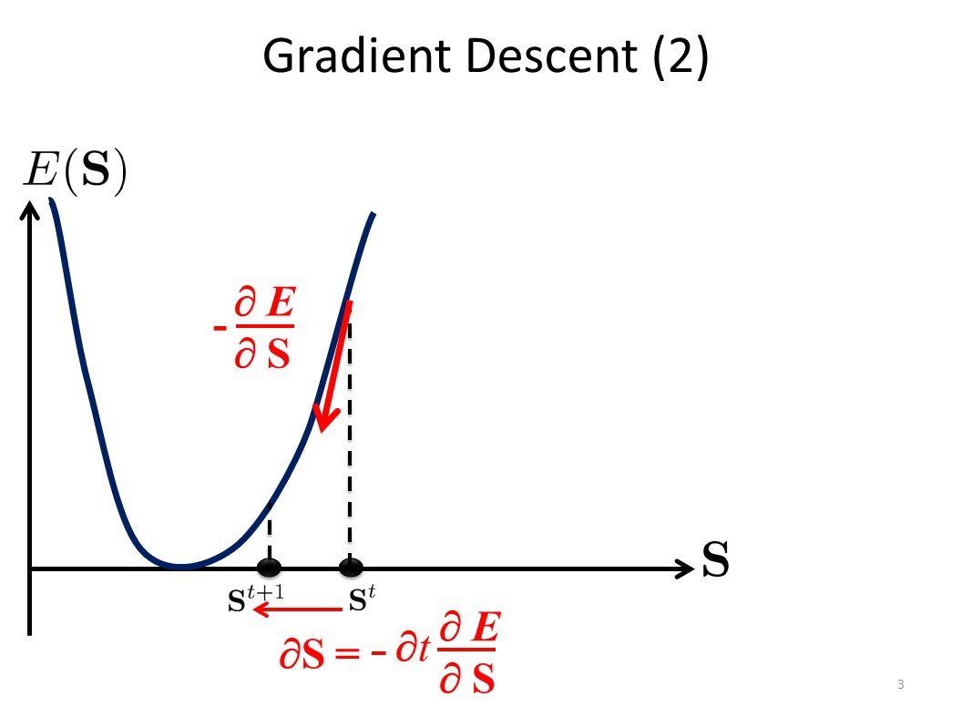 Gradient Descent (2) 3  E S E S -  S = tt  E S E S