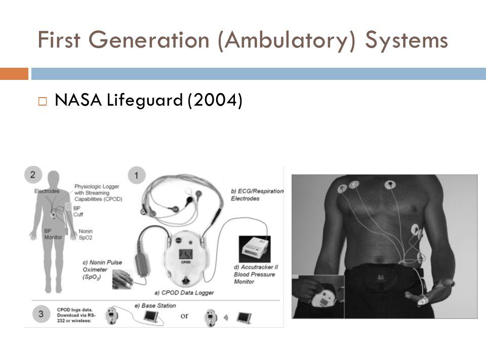 First Generation (Ambulatory) Systems  NASA Lifeguard (2004)