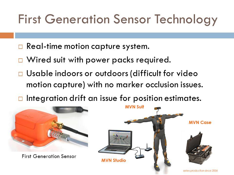 First Generation Sensor Technology First Generation Sensor  Real-time motion capture system.