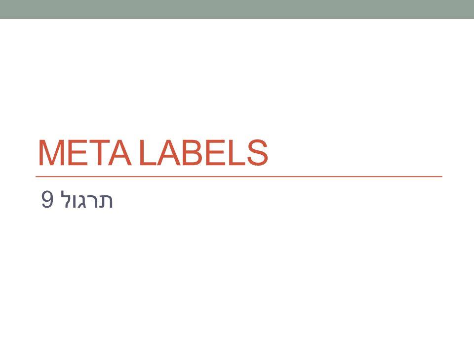 תרגול 9 META LABELS