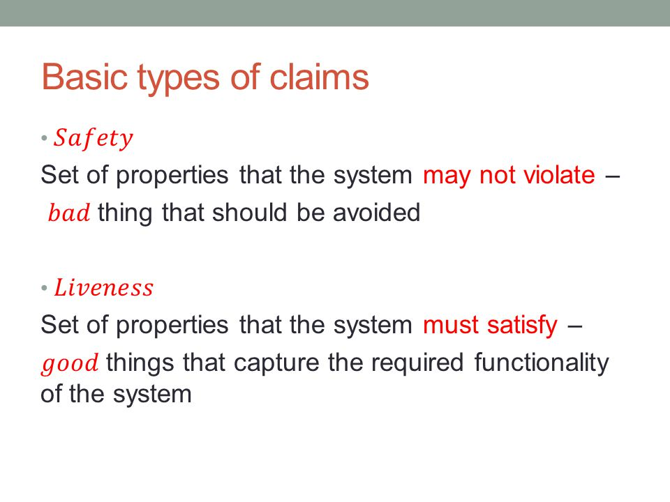 Basic types of claims