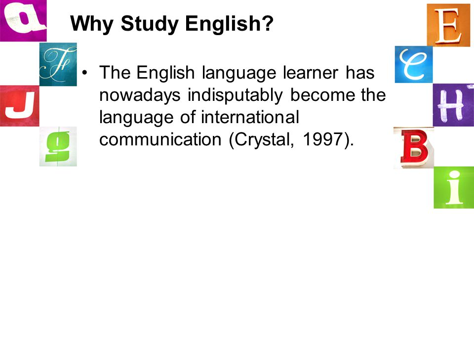 Why Study English.