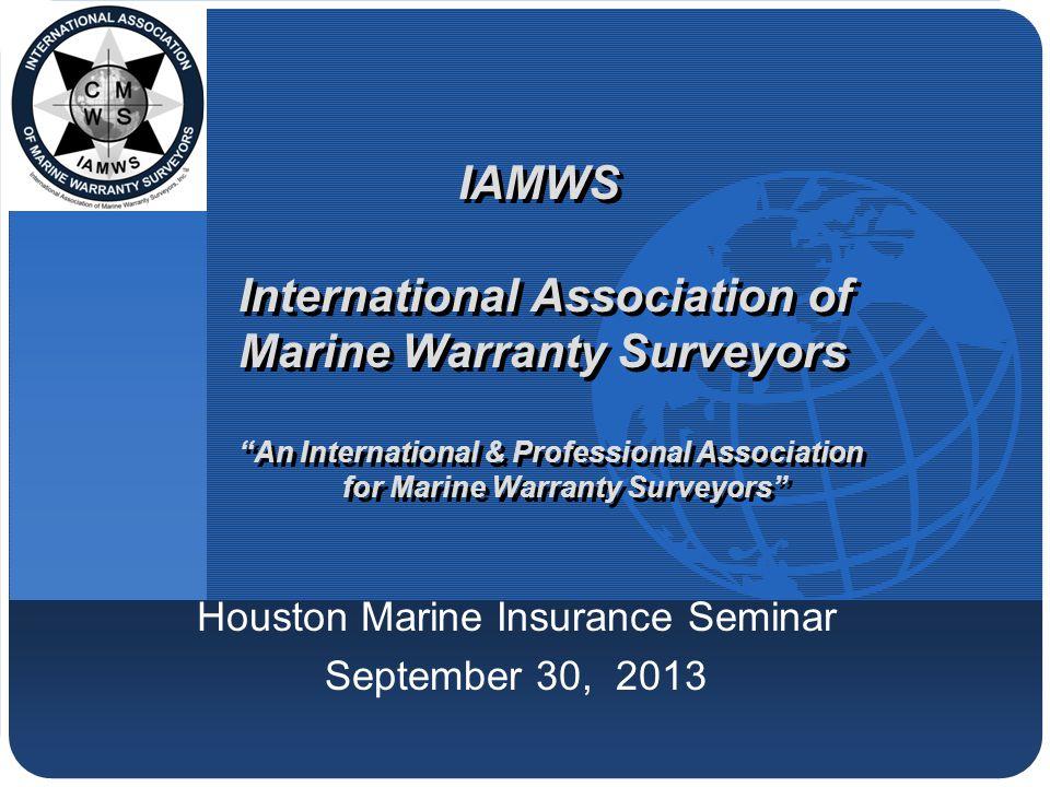 "Company LOGO IAMWS International Association of Marine Warranty Surveyors ""An International & Professional Association for Marine Warranty Surveyors"""