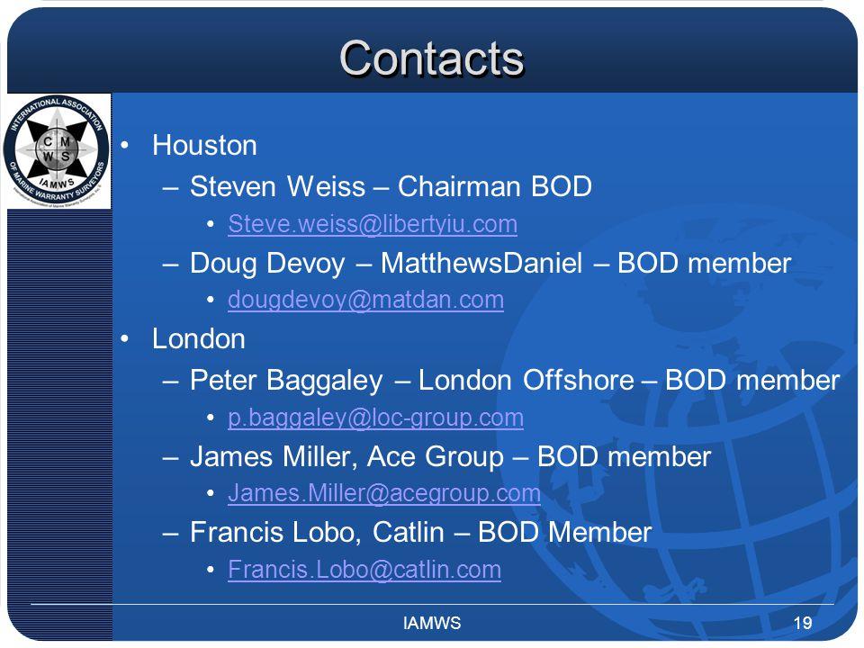 Contacts Houston –Steven Weiss – Chairman BOD Steve.weiss@libertyiu.com –Doug Devoy – MatthewsDaniel – BOD member dougdevoy@matdan.com London –Peter B