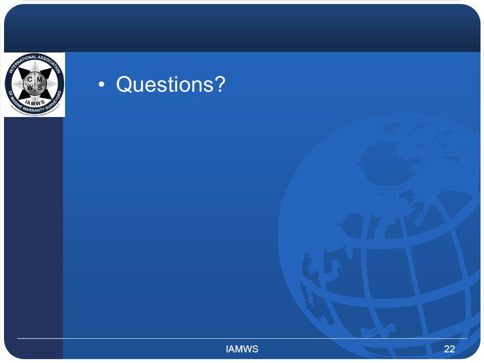 Questions? IAMWS22