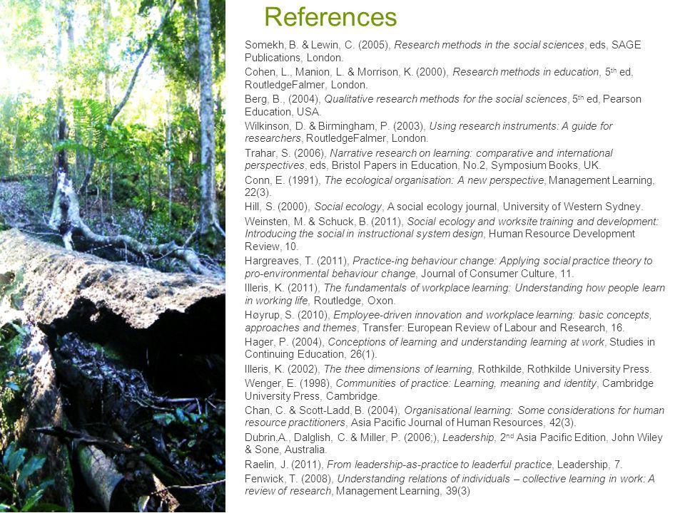 References Somekh, B. & Lewin, C.