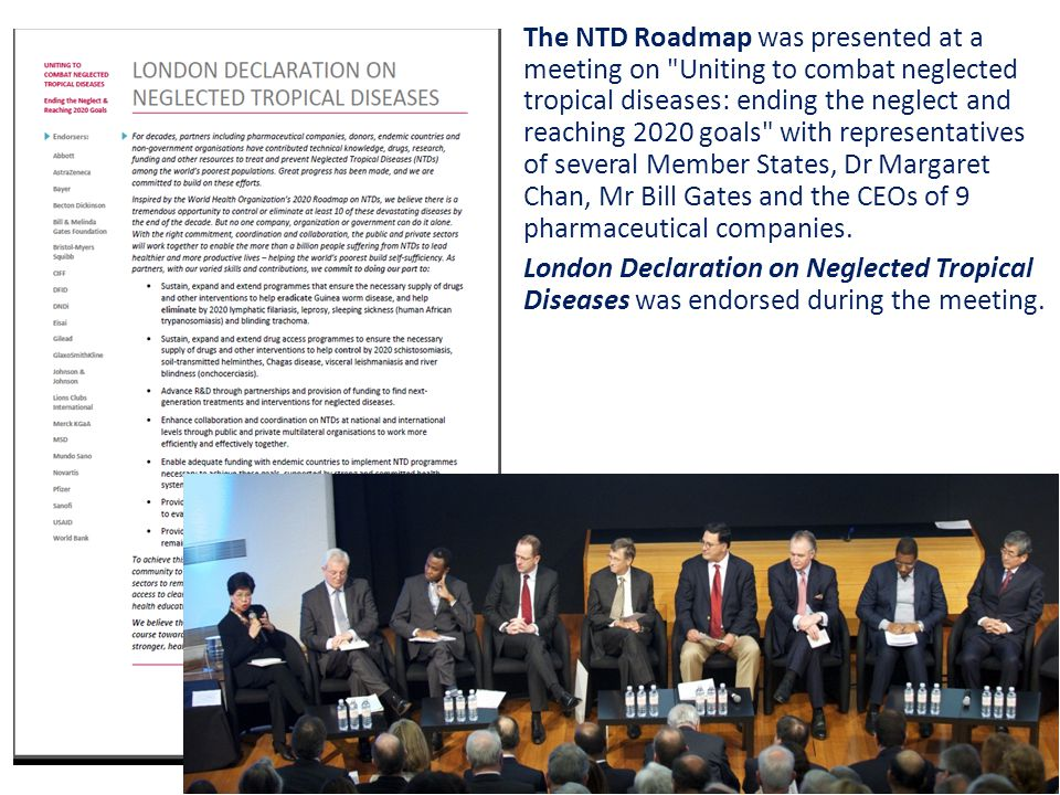 The NTD Roadmap was presented at a meeting on