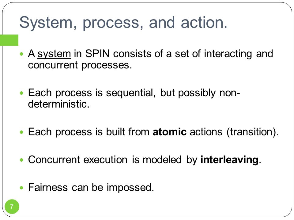 System, process, and action.