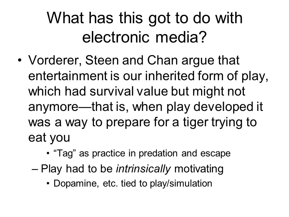 What has this got to do with electronic media.