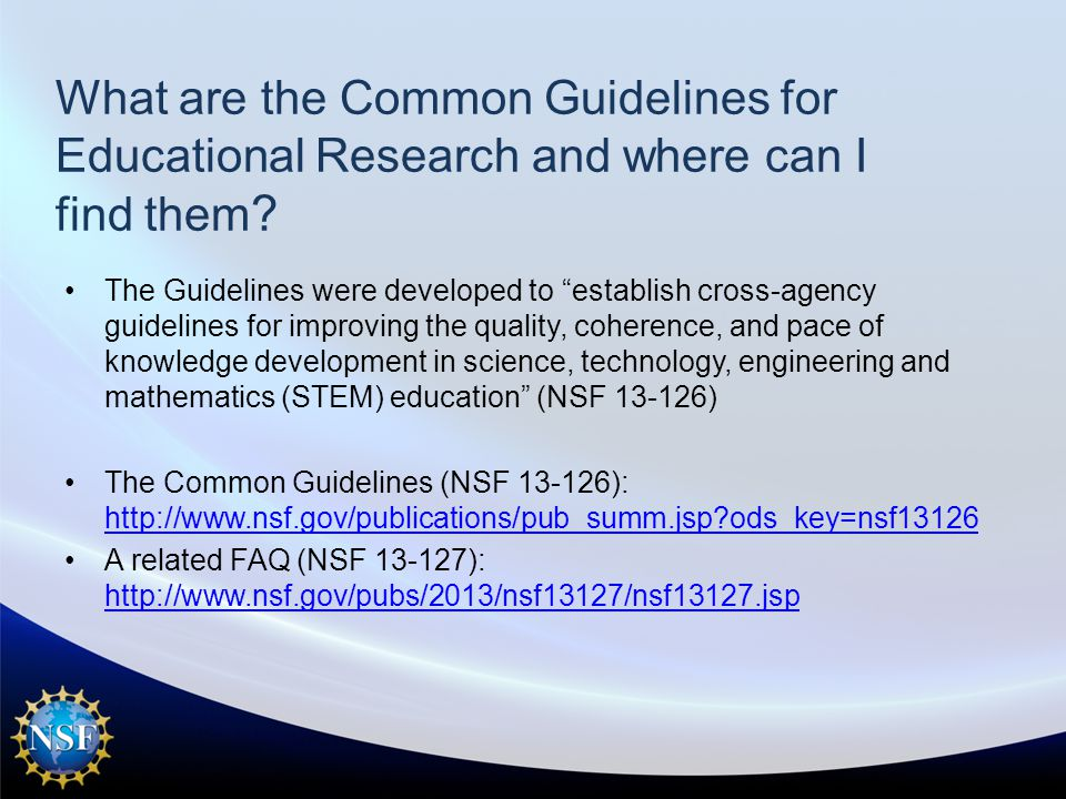 What are the Common Guidelines for Educational Research and where can I find them .