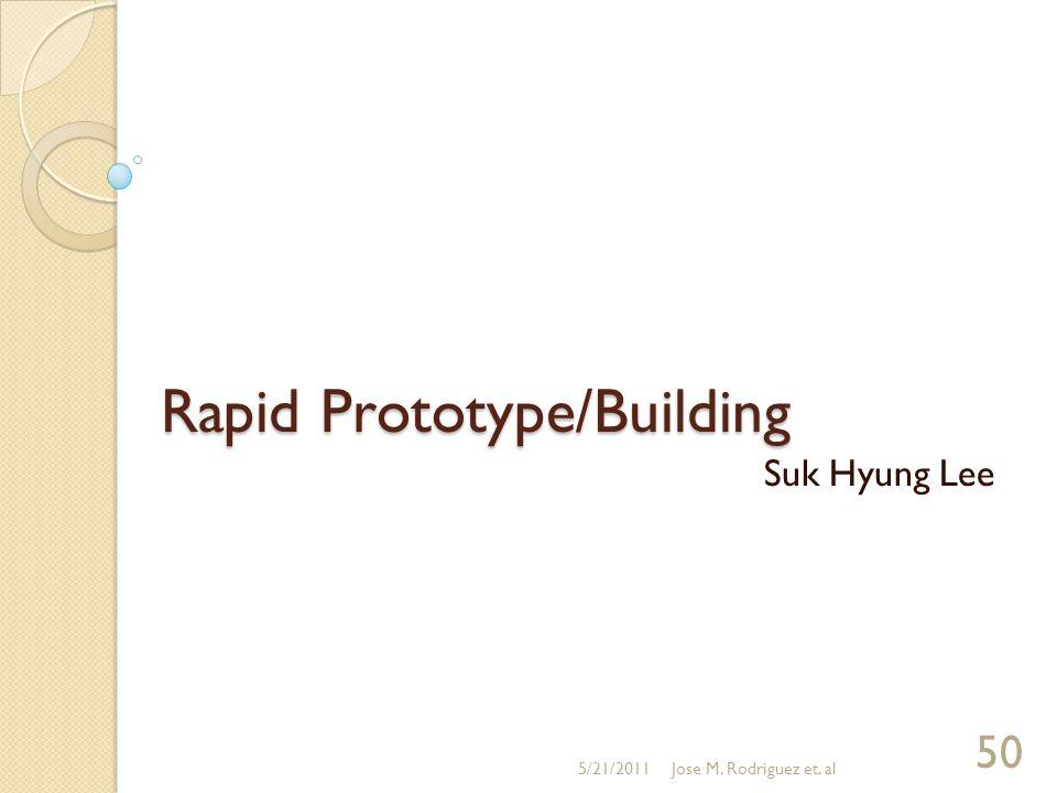Rapid Prototype/Building Suk Hyung Lee 5/21/2011Jose M. Rodriguez et. al 50