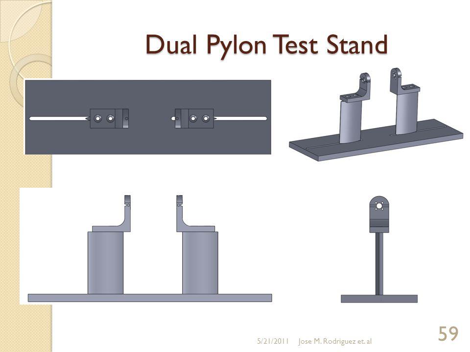 Dual Pylon Test Stand 5/21/2011 59 Jose M. Rodriguez et. al