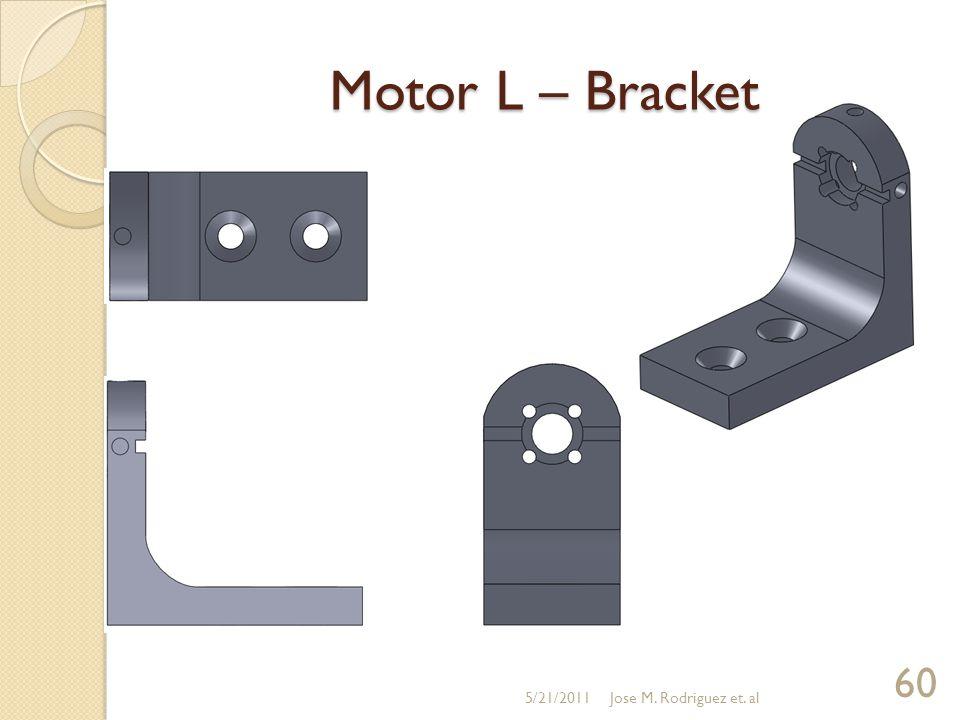 Motor L – Bracket 5/21/2011 60 Jose M. Rodriguez et. al