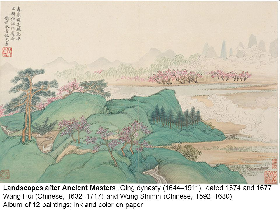 Landscapes after Ancient Masters, Qing dynasty (1644–1911), dated 1674 and 1677 Wang Hui (Chinese, 1632–1717) and Wang Shimin (Chinese, 1592–1680) Alb
