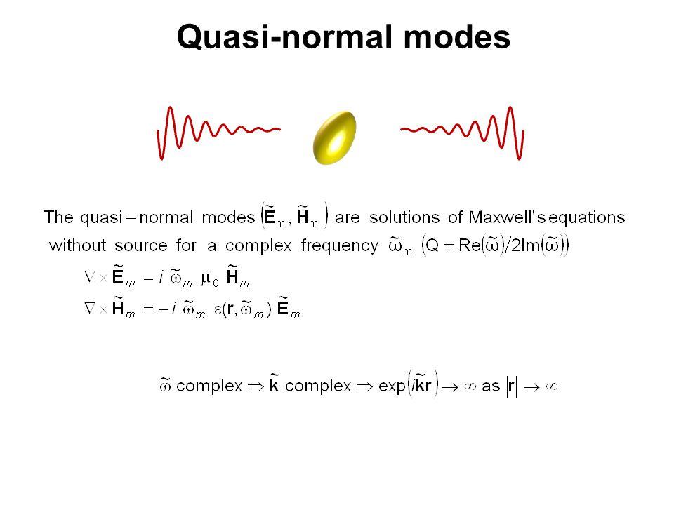 Quasi-normal modes