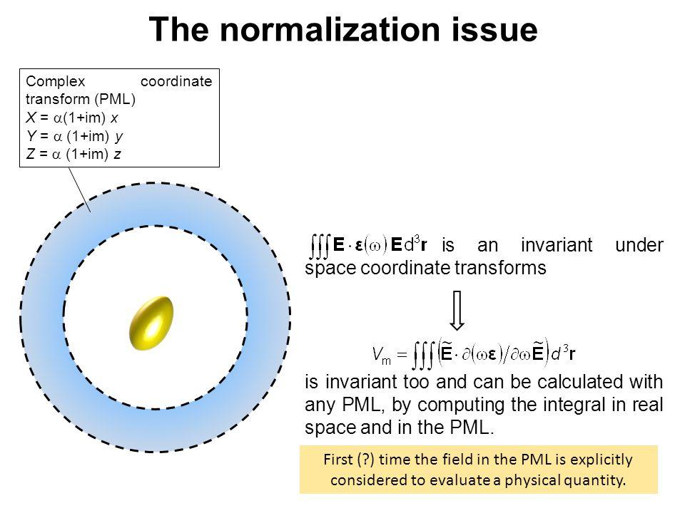 Complex coordinate transform (PML) X =  (1+im) x Y =  (1+im) y Z =  (1+im) z is an invariant under space coordinate transforms is invariant too a