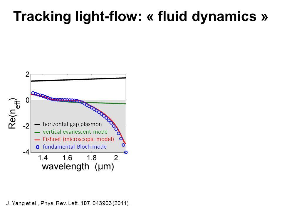 J. Yang et al., Phys. Rev. Lett. 107, 043903 (2011). horizontal gap plasmon vertical evanescent mode Fishnet (microscopic model) fundamental Bloch mod