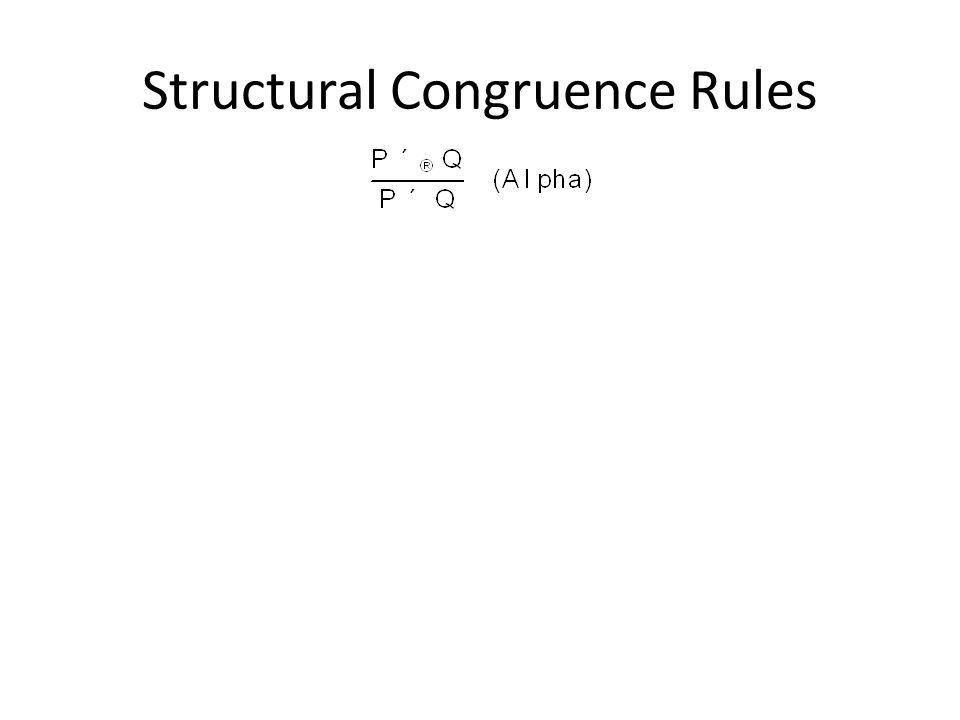 Structural Congruence Rules