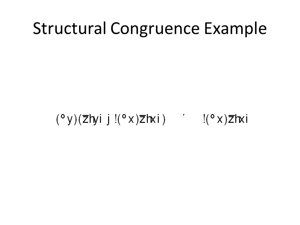 Structural Congruence Example
